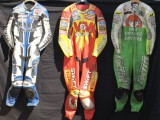 Fantastic Race Leathers Collection , David Jefferies, Ron Haslam, Steve Hislop,  Ian Lougher, John McGuiness,  Bubba Schobert ,Dan Sayle, Dave Molyneaux, Carl Fogarty, Colin Edwards, James Whitham Randy Mamola, Chris Walker