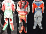 Fantastic Race Leathers Collection , David Jefferies, Ron Haslam, Steve Hislop,  Ian Lougher, John McGuiness,  Bubba Schobert ,Dan Sayle, Dave Molyneaux, Carl Fogarty, Colin Edwards, James WhithamRandy Mamola, Chris Walker